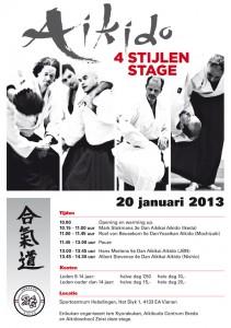 Poster 4-stijlen stage